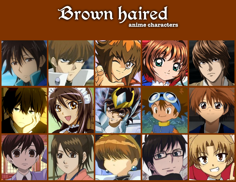Brown Haired Anime Characters By Jonatan7deviantart On DeviantArt