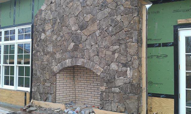 Field Stone Fireplace veneer+fieldstone+and+granite+mosaic+fireplace | tennessee