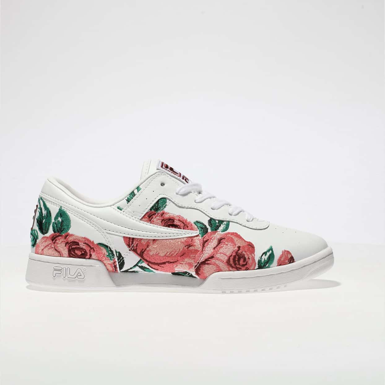 huge selection of 0920a ec188 womens white   pink fila original fitness logo trainers   schuh