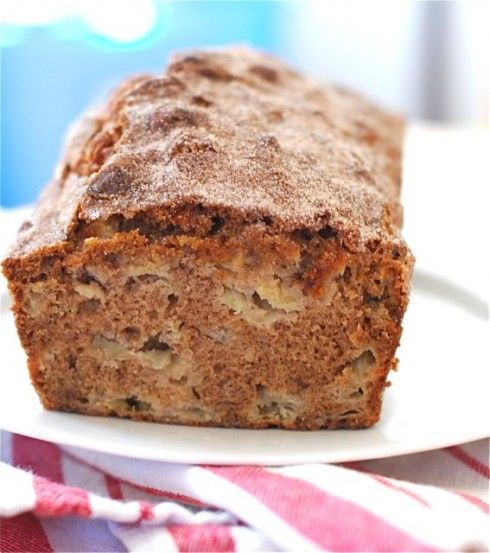 Apple Sour Cream Loaf King Arthur Flour Giveaway Recipe Date And Walnut Loaf Banana Bread Recipes Tea Time Snacks