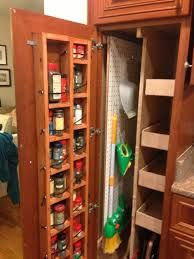 Broom Cupboard To Fit Next To 2 Door Fridge Slide Out Rack Door Shelving For Cleaning Goods Shelves For Clothes Broom Closet Vintage Pantry Closet Cabinets