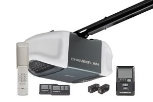 Chamberlain Ultra Quiet Strong 1 2 Hp Belt Drive Garage Door Opener Www Chamberlain Com Best Garage Door Opener Chamberlain Garage Door Opener Garage Door Opener