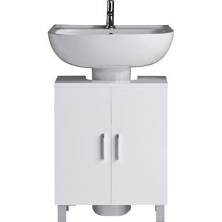 Peachy Hygena Under Sink Storage Unit White Gloss From Homebase Home Interior And Landscaping Ologienasavecom