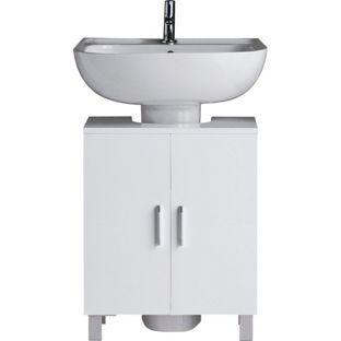 Bathroom Sinks Homebase hygena under sink storage unit - white gloss. from homebase.co.uk