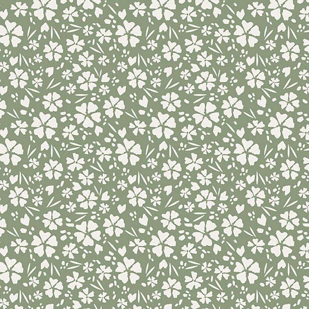 Tempaper Sage Floral Fields Removable Wallpaper