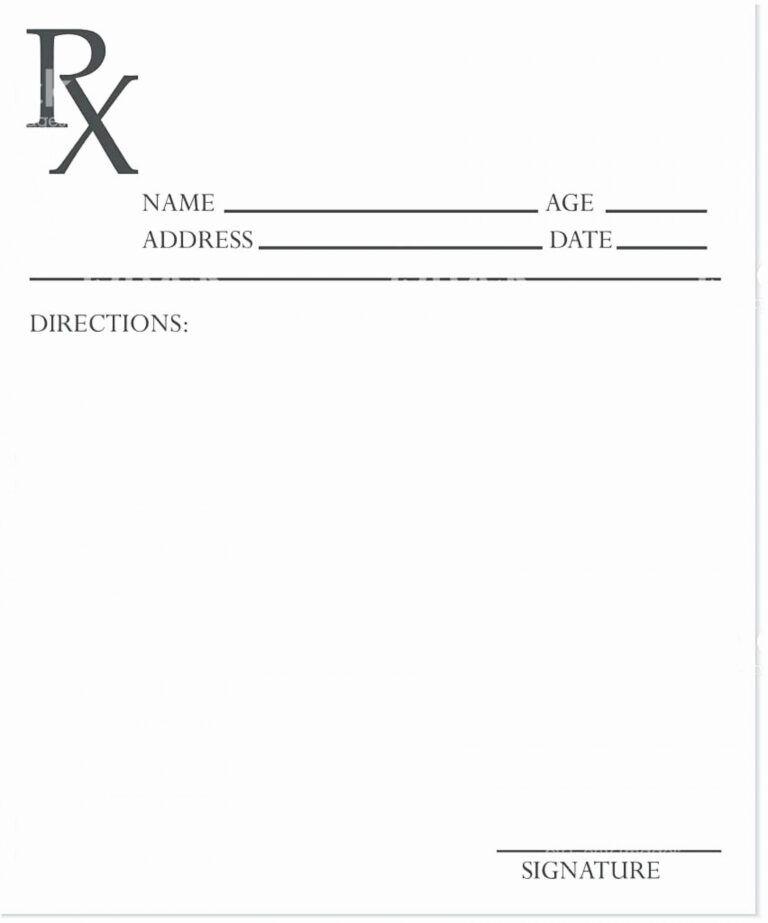 018 Inspirational Sample Prescription Pad Template Blank