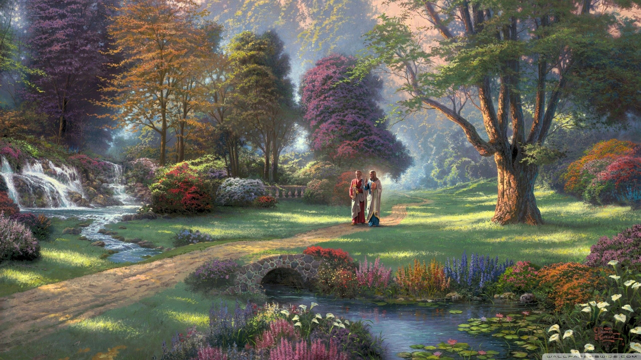 Thomas Kinkade Jesus 2560x1440 Wallpaper Wallpaper Hd Thomas