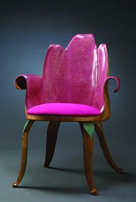 Red Tulip Chair By Eric Freyer