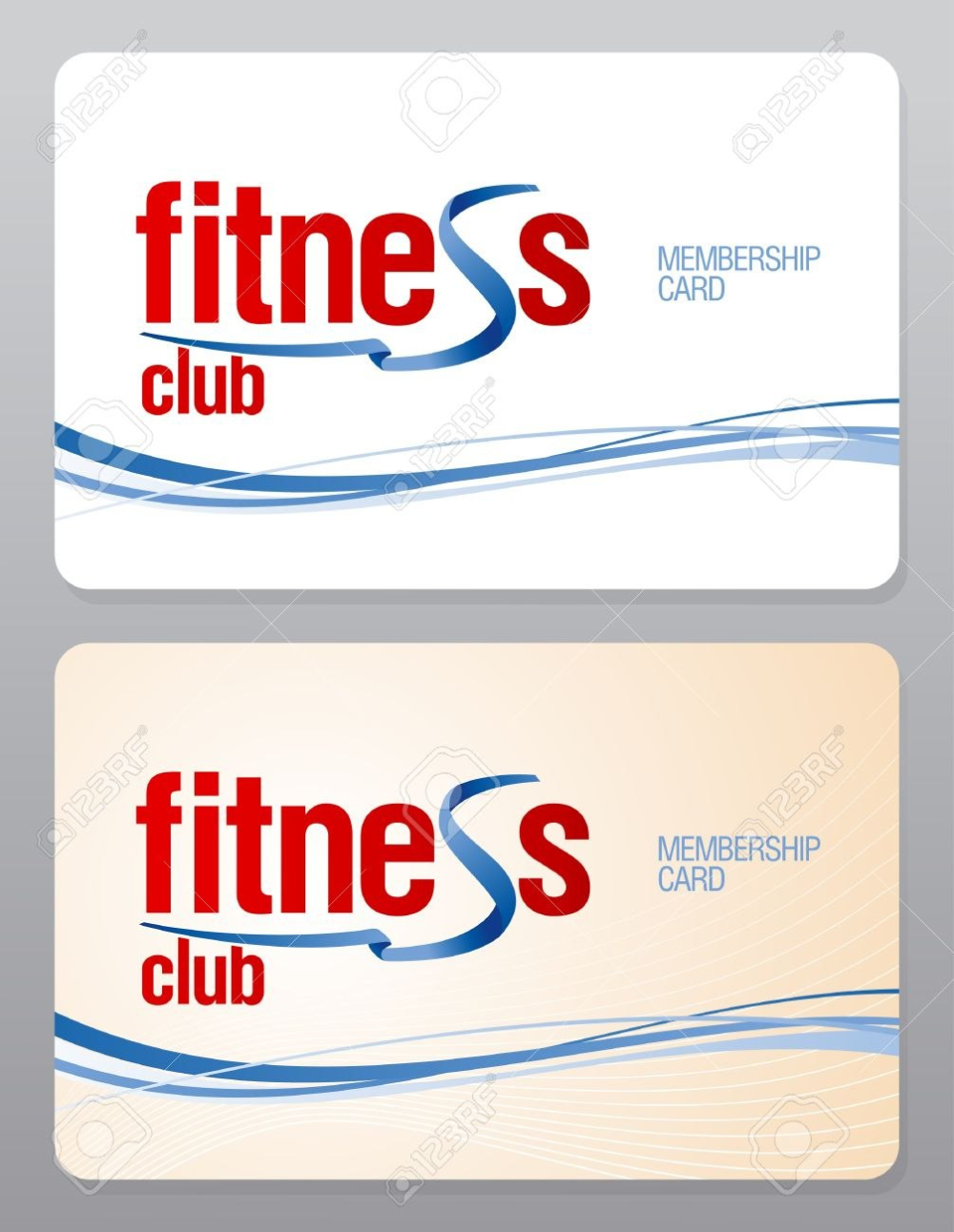 Fitness Club Membership Card Design Template Royalty Free Cliparts Pertaining To Gym Membership Gym Membership Card Membership Card Business Card Template Word