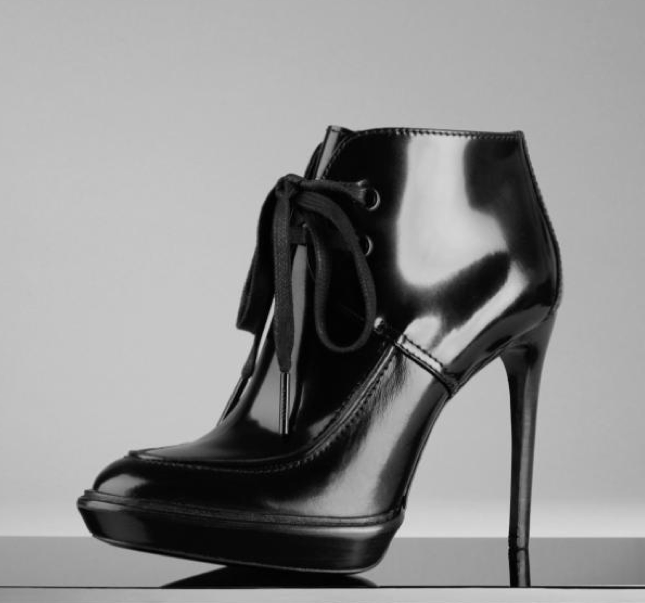 Burberry Prorsum - field boots in polished leather