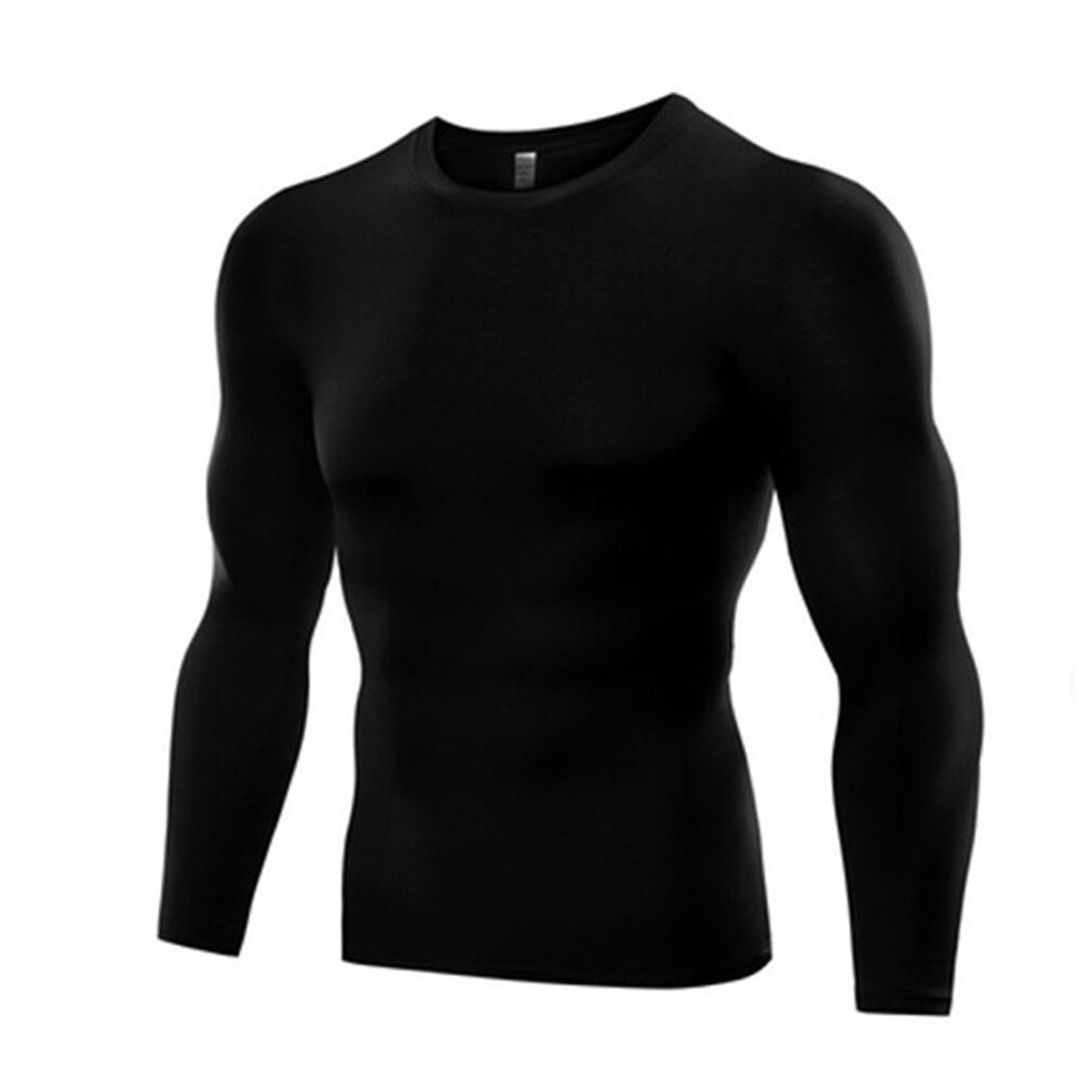 Mens Compression Tops Sports T-Shirt  Under Skin Base Layer Tight Athletic Wear
