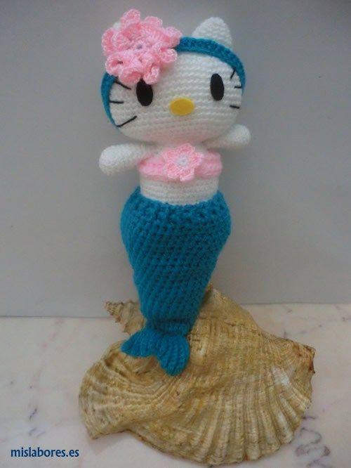 Hello Kitty sirenita en amigurumi   Amigurumis   Pinterest   Hello ...