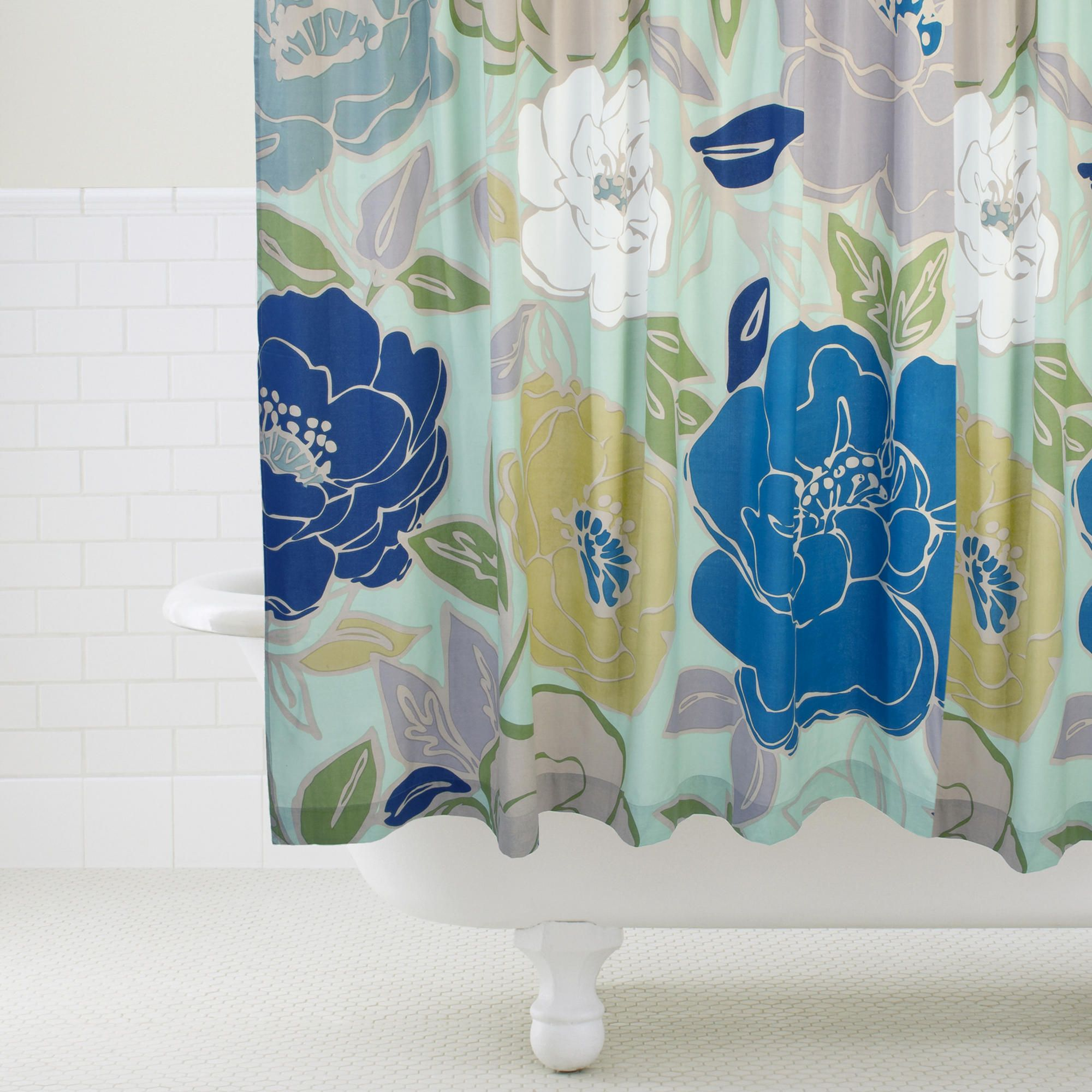 Painterly Floral Shower Curtain World Market Floral Shower Curtains Floral Shower Shower Curtain