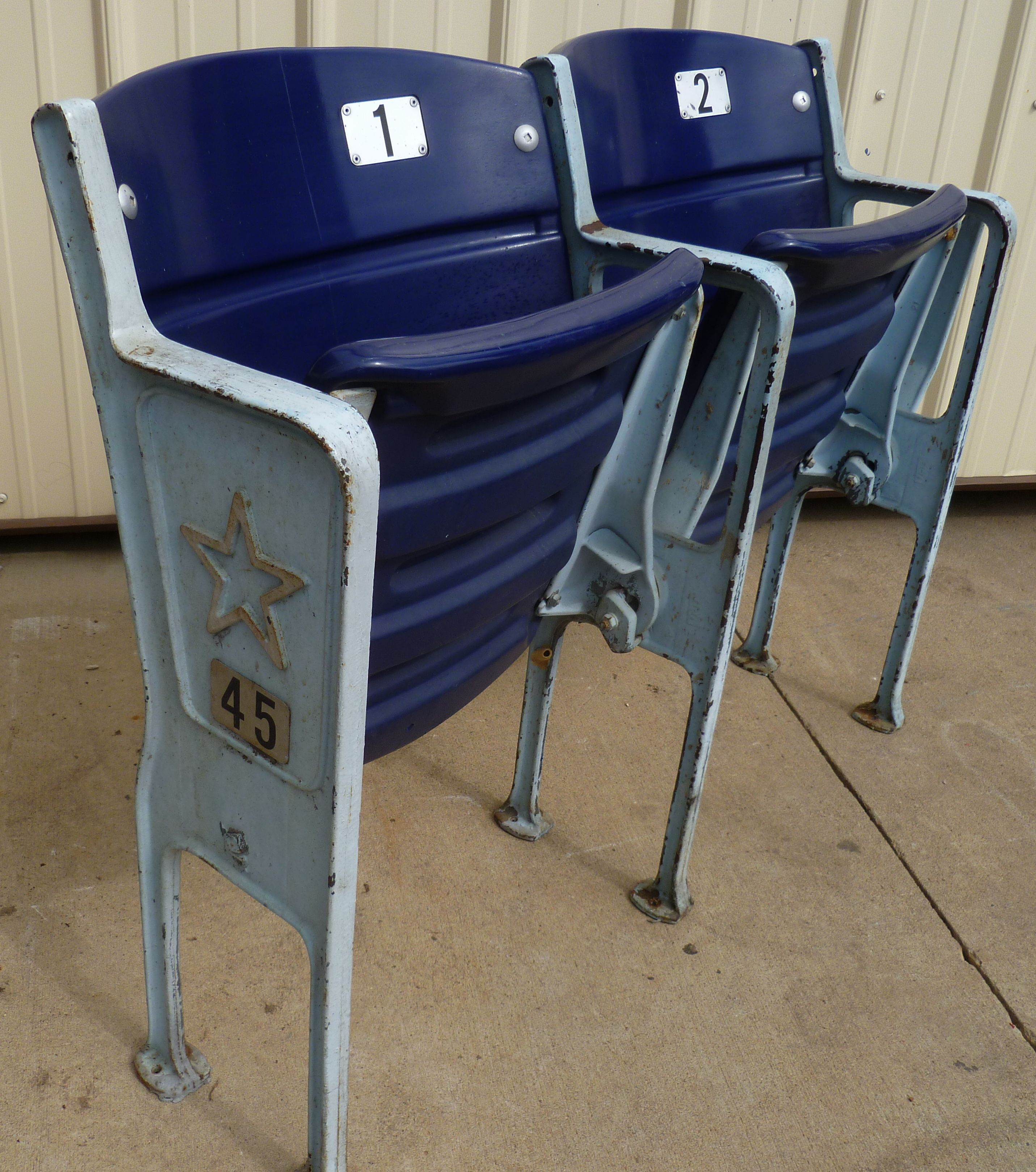 Texas Stadium seats Dallas Cowboys memorabilia