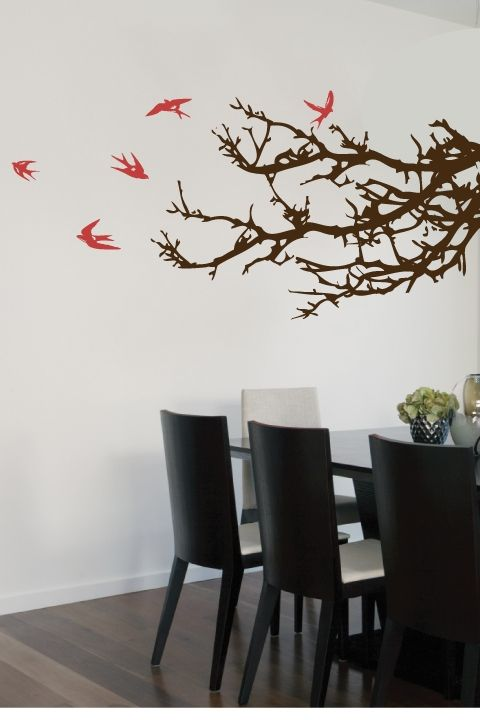Branches And Birds Wall Decals Wall Decal Branches Tree Wall Decal Wall Decals
