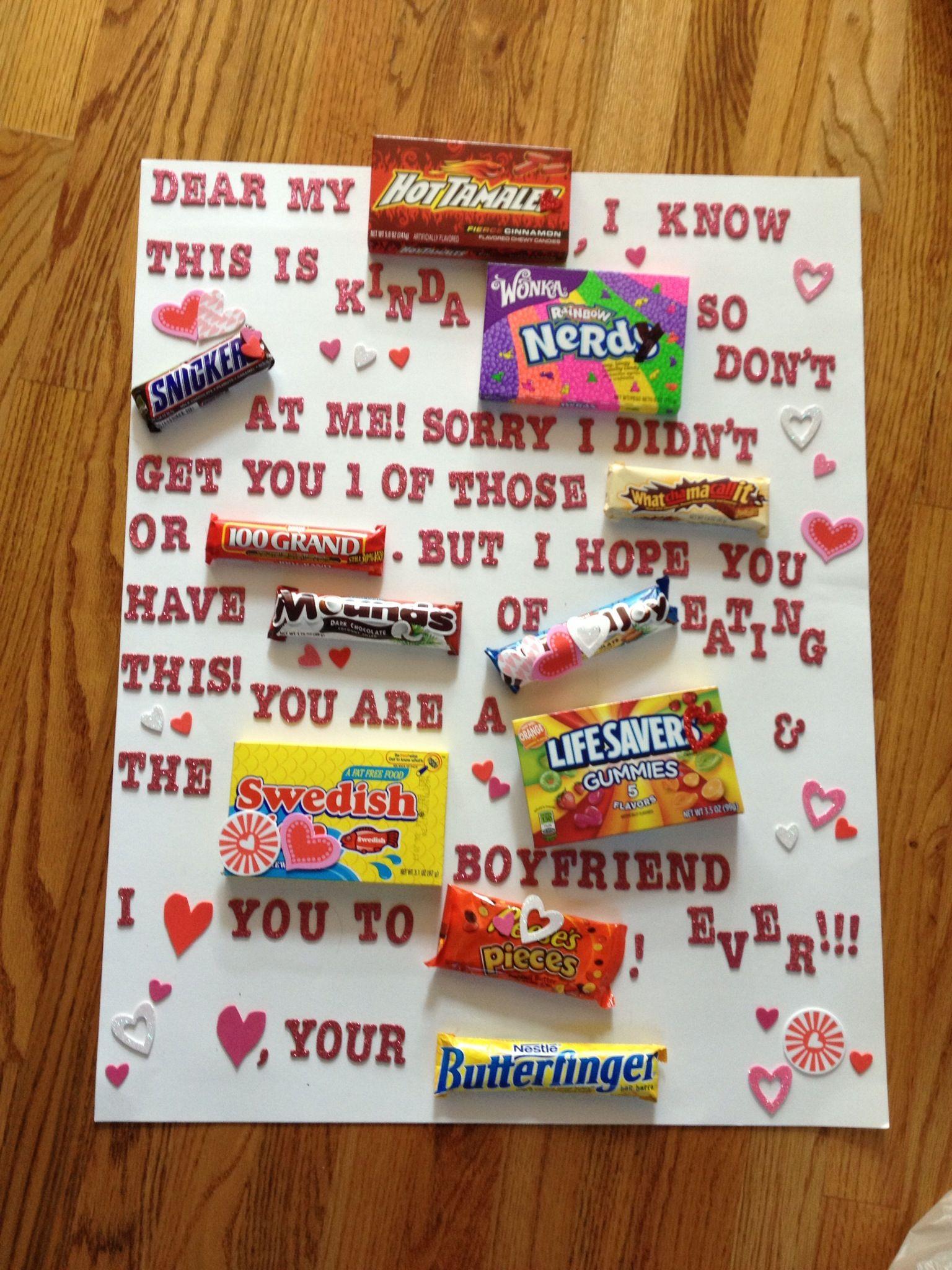 What I Made My Boyfriend For Valentines Day Handmade