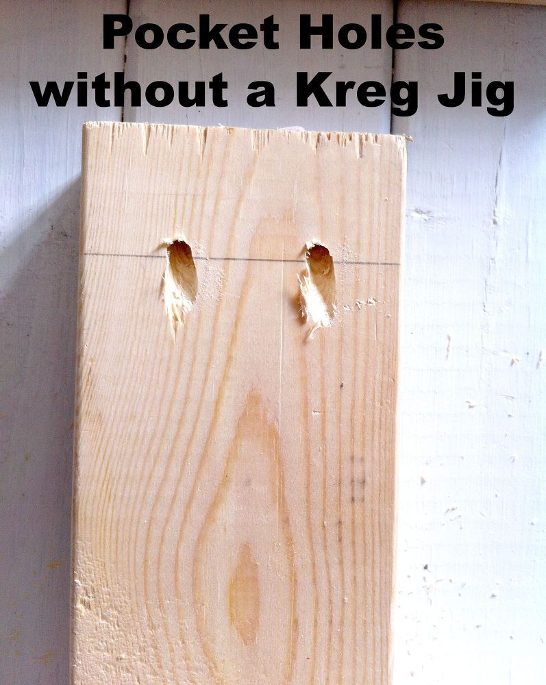 How To Make Pocket Holes Without A Kreg Jig Easy Woodworking