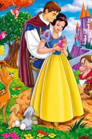 ディズニー 王子様と幸せそうな 白雪姫のイラスト | 白雪姫 | Pinterest