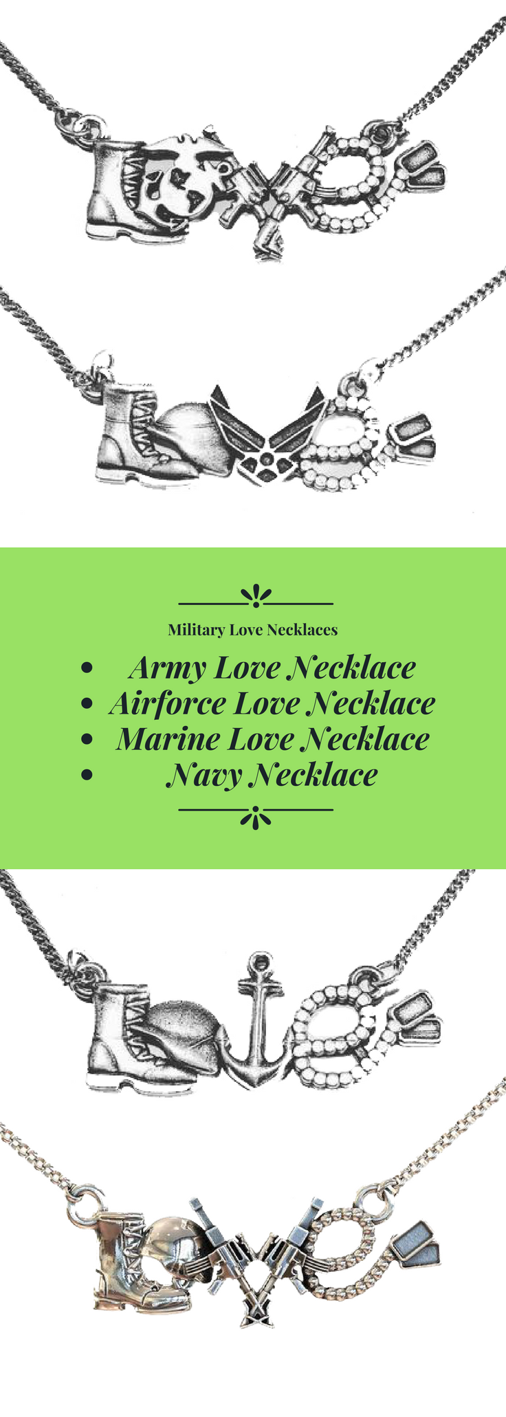 Military Love Necklaces Military Love Army Love Army Wife Life