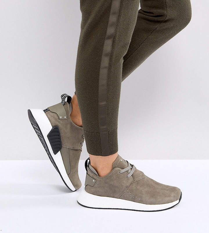 adidas NMD C2 Sneakers In Taupe Suede | Sneakers, Adidas originals ...
