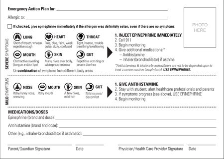 Emergency Action Plan SafetySack Allergies Pinterest - emergency action plan