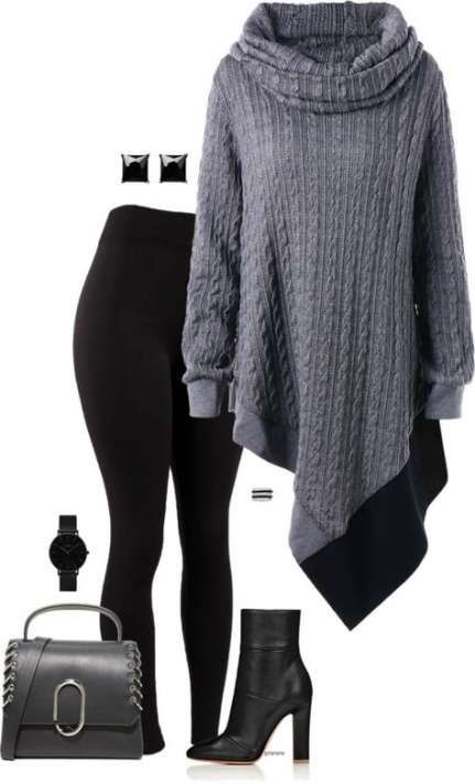 15 New Ideas For How To Wear Plus Size Leggings Outfits Winter 5