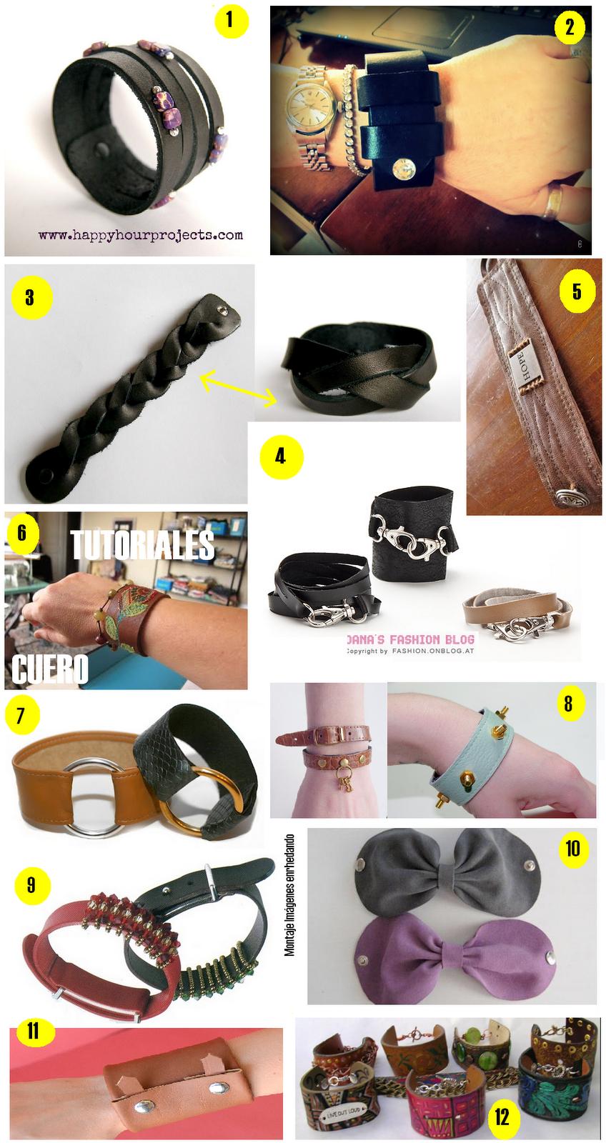 tutoriales pulseras de cuero