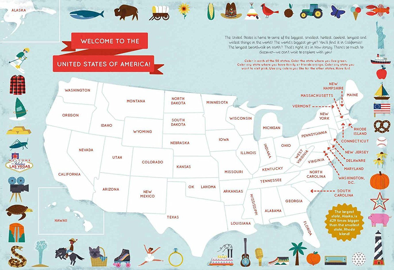 The 50 States Activity Book Maps Of The 50 States Of The
