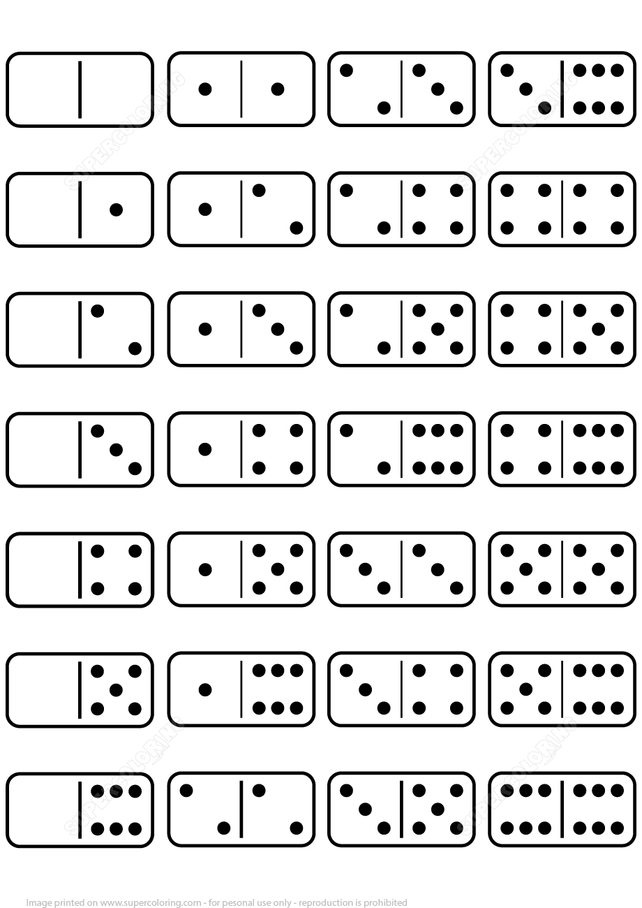 printable dominoes set template from printable board games category