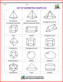 shapes clipart list of geometric shapes 3d bw | cool school | 3d