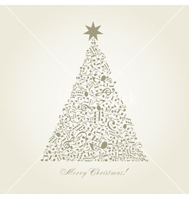 Musical christmas tree vector - by aleksander1 on VectorStock ...