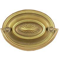 h3 212 inch sunburst hepplewhite bail pull solid brass