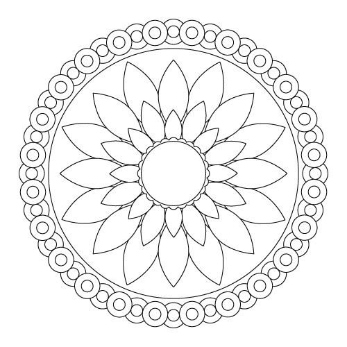 Mandala Coloring Pages мандалы раскраски художественные