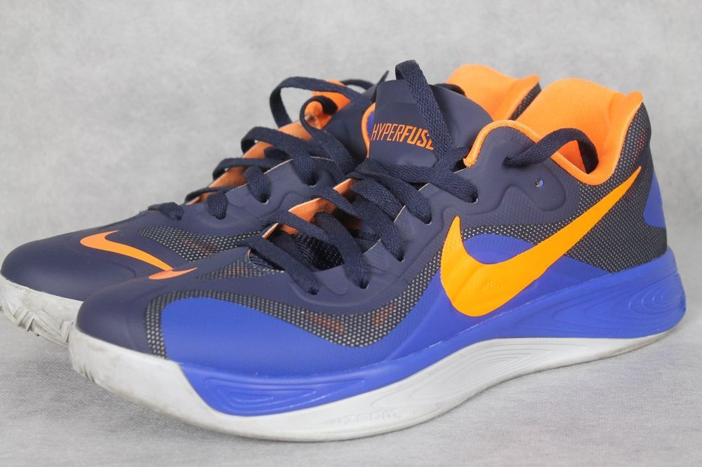 cheap for discount 52e75 adda4 ... coupon for nike hyperfuse low mens blue orange basketball shoes 555034  401 sz 10 nike basketballshoes