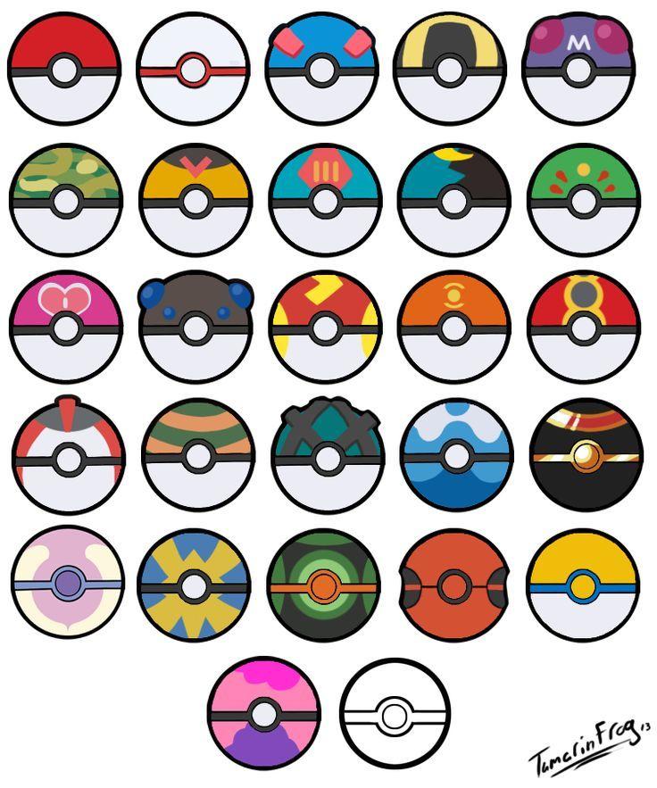Image result for different printable pokeball Pokemon
