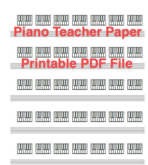Piano Teacher Keyboard Diagram Paper Download and Printable PDF - piano teacher resume