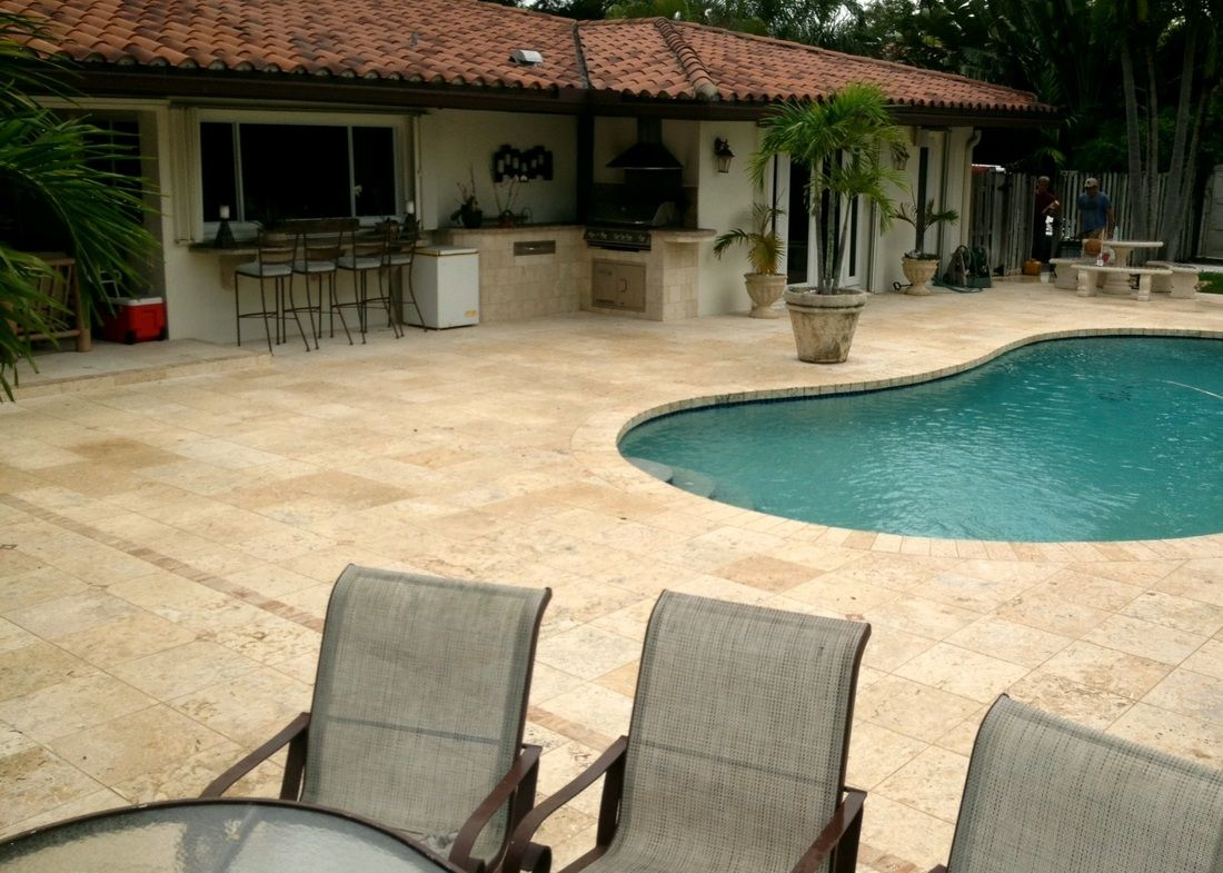 Specialties pool tile swimming pool decks outdoor tile for Swimming pool tile pictures