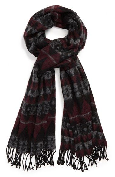 Free shipping and returns on Topman Jacquard Blanket Knit Scarf at Nordstrom.com. Blanket-pattern jacquard styles a supersoft oversized knit scarf finished with solid black fringe.