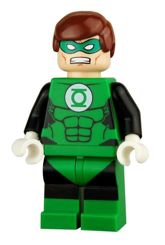 Hal Jordan Silver Age Green Lantern Custom By Custombricks 18 99 John Stewart Green Lantern Green Lantern 2 Green Lantern
