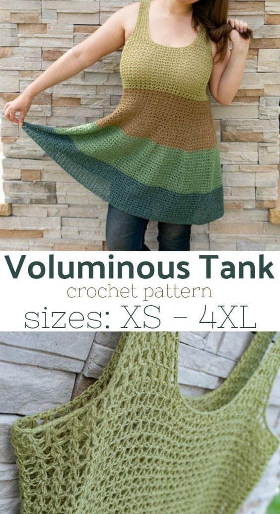 Voluminous Tank Top Crochet Pattern