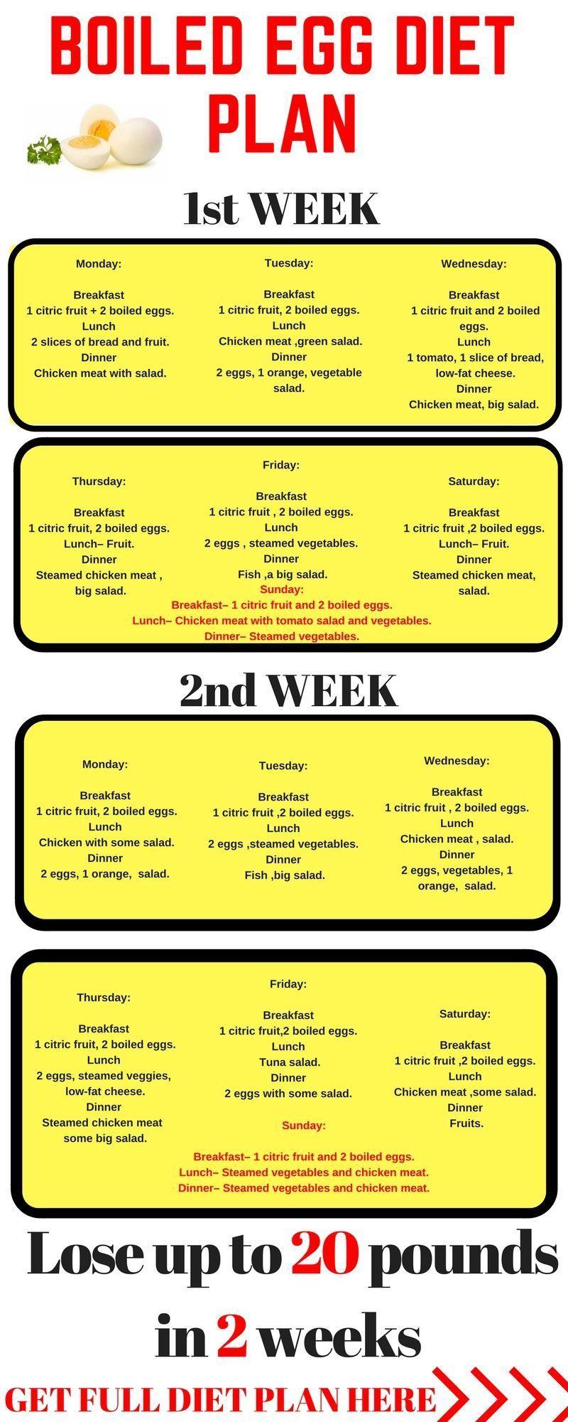 egg diet menu plan printable