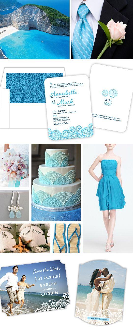 Blue White Beach Wedding Theme Blue White Waterfront Wedding