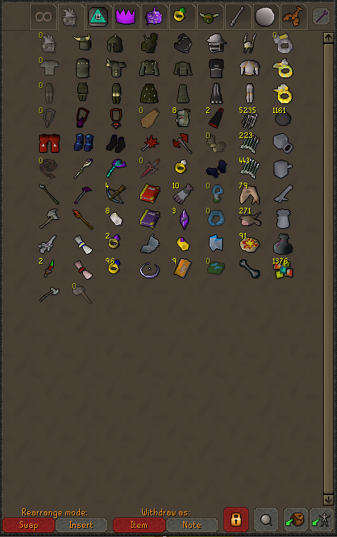 Please help me organize my gear tab