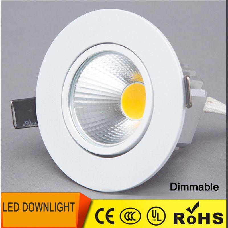 Dimmable Led Downlight 6 W 9 W 12 W Spot Led Spots Peut Etre Obscurci Cob Led Spot Encastre Bas Lumieres Pour Salon 110 V 220 V With Images Dimmable Led Led Spot Downlights