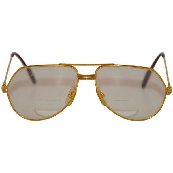 087128d4e97 Preowned Cartier Men s 18k Gold Frame Glasses ( 2