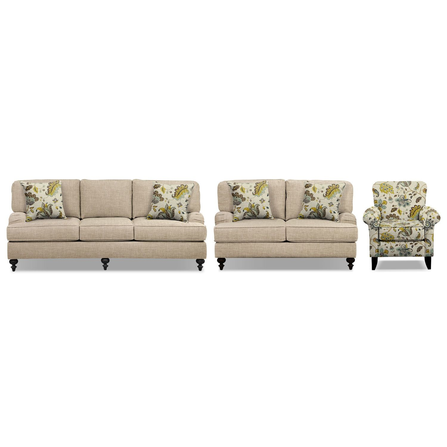avery taupe 86 memory foam sleeper sofa 62 sofa and accent chair