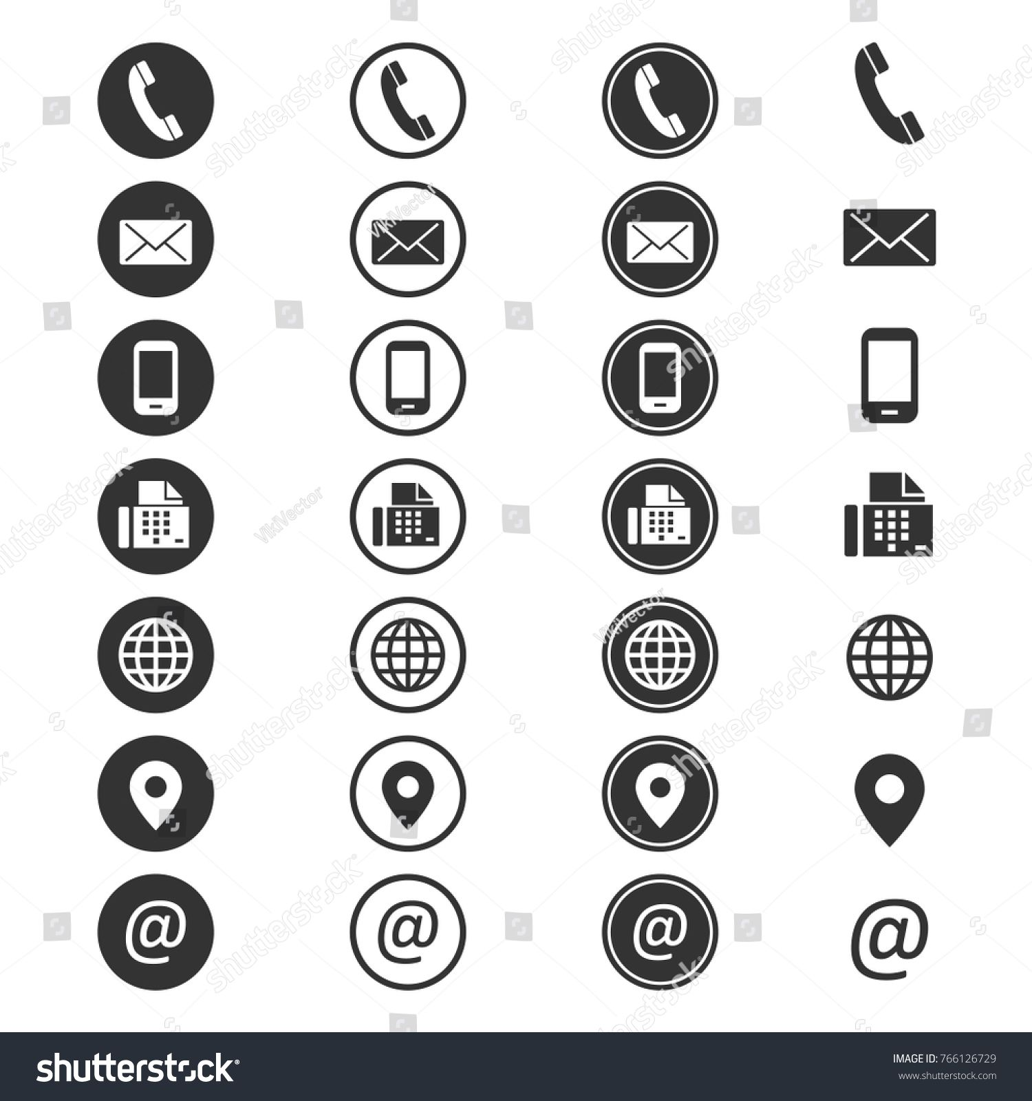 Contact info icon. Phone addressbook, button contacts of