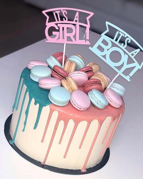 41 Cute and Fun Gender Reveal Cake Ideas  essen