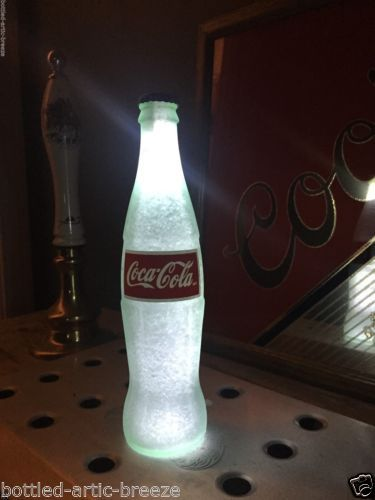 Coca-Cola-Coke-White-12-oz-Beer-Bottle-Light-LED-Bar-Pool-Man-Cave-Neon-Bar
