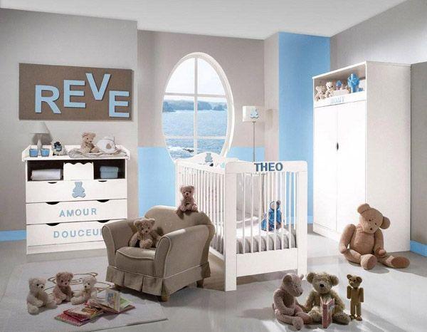 theme chambre bébé garçon | decoration et design d\'intérieur | déco ...